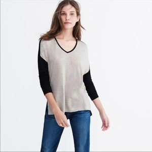 Madewell Colorblock Anthem Long-Sleeve V-neck Tee